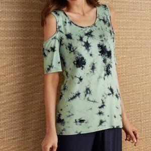Soft Surroundings cold shoulder pajama top XS